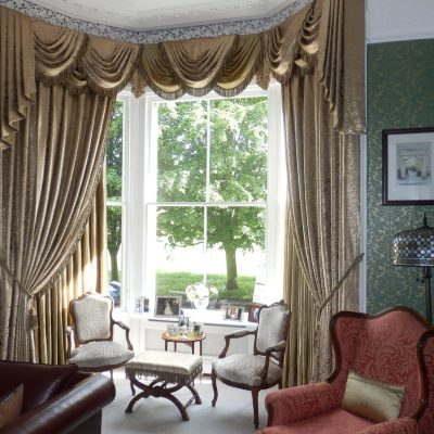 Elegant swags and tails on a period property in Edinburgh